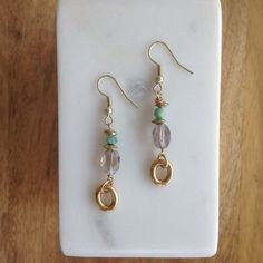 Chrysoprase Smoky Quartz Earrings- Laura James Jewelry – Laura James Jewelry