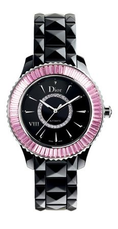 OMG~I think I just found my perfect pink & black watch I've been searching for~I LOVE~LOVE this gorgeous Dior watch~I want it~!!!!!!!! <3