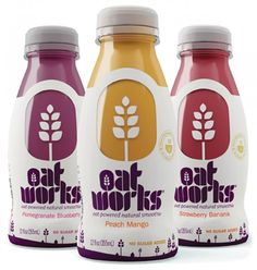 """The full-body shrink sleeve label features the brand's signature """"oat landscape"""" while also providing product visibility."""
