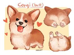 RDJism (When I have a trouble ,drawing Corgi (and butt).) - Tap the pin for the most adorable pawtastic fur baby apparel! You'll love the dog clothes and cat clothes! Corgi Drawing, Cat Drawing, Cute Puppies, Cute Dogs, Welsh Corgi Pembroke, Cute Animal Drawings, Dog Illustration, Corgi Dog, Fat Corgi