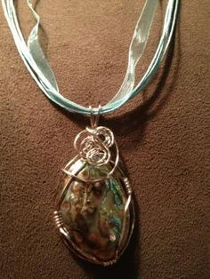 Mermaid of the Sea - Abalone Hand Wire Wrapped Pendant