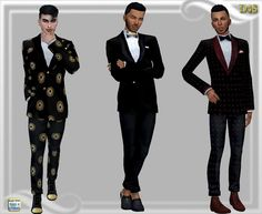 Dreaming 4 Sims: Mens jacket and pants • Sims 4 Downloads