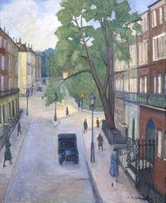 'A Corner of Russell Square, Russell Square from Montague Street, London' by Stanislawa De Karlowska, 1931