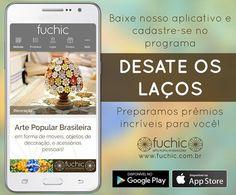 """No aplicativo da Fuchic você pode conferir nossos produtos, o endereço das nossas lojas, promoções e ficar por dentro de todas as novidades. Lá você também pode se cadastrar no nosso programa """"Desate os Laços"""", confira tudo sobre isso no nosso site http://www.fuchic.com.br/desate-os-lacos  Clique aqui para baixar o aplicativo direto no seu celular: https://itunes.apple.com/br/app/fuchic/id1173082027?mt=8 https://play.google.com/store/apps/details?id=com.lol.rubensnagib.fuchic"""