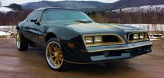 A rare and very beautiful 1977 Pontiac Trans Am Bandit is up for sale on eBay. The car is painted in a black color, with the characteristic golden details and the magnificent firebird logo on its hood.