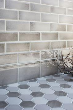 Encore Ceramics 2 X 8 Field Tile Hand Glazed In Silver
