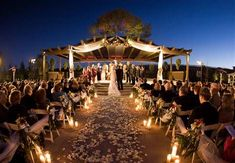 Outdoor evening wedding