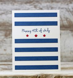 Happy 4th Of July Card by Laurie Willison for Papertrey Ink (May 2016)