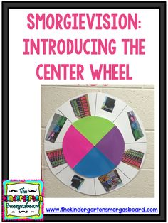 How to introduce a center wheel in your classroom! Click to see a video of students learning to use a center wheel for center management!