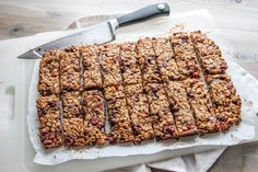 Organic homemade granola bars