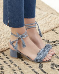 Suede fringe & tassel sandals | Sole Society Sera