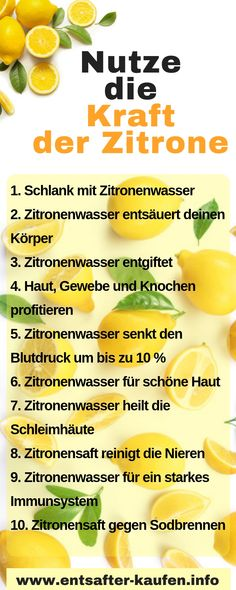 That's why you should drink a warm lemon in the morning - Gesunde Ernährung - Detox Clean Eating, Healthy Eating, Eat Smart, Summer Body, Diet And Nutrition, Superfood, Diet Recipes, Smoothies, Detox