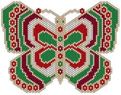Beaded Butterfly PATTERN peyote several different butterfly patterns