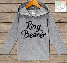 Boys Wedding Hoodie - Ring Bearer Outfit - Ring Bearer Hoodie - Grey Hoodie Kids, Toddler, Baby - Kids Wedding Outfit - Ring Bearer Pullover