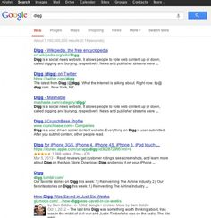 DIGG.com banned in Google Serps ??
