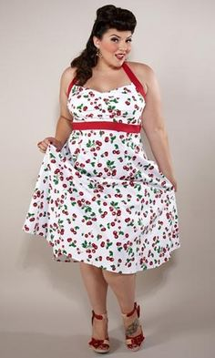 I found 'Trendy Plus Size Dresses → Special Occasion Dresses → Dixie Halter Dress (Vintage)' on Wish, check it out!