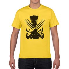 X-Men Wolveriner T Shirt Men Women Summer Cotton Printed Superhero Short Sleeve Tees T-shirt for men European size