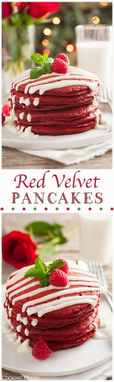 New Food & drink: Red Velvet Pancakes with Cream Cheese Glaze