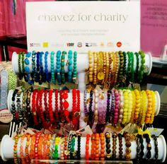 Chavez for Charity is jewelry that gives back! With the purchase of a bracelet, 25% of the proceeds go to specific causes around the world! Each color represents a different charity so you can mix and match!