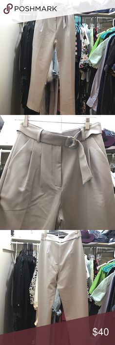 NWOT Forever 21 trousers this pair is super chic and has never been worn. it comes with it's belt for extra elegance! super comfy and breathable. it has two pockets on the sides ❤️🎁🌹🌷🎊🎉 Forever 21 Pants Trousers