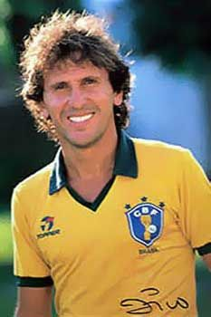 Zico Club Football, Brazil Football Team, Football Icon, Best Football Players, Retro Football, Football Uniforms, National Football Teams, World Football, Soccer Players