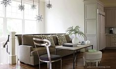 abode love: a man's home is his wife's castle: moravian light fixtures Dining toom
