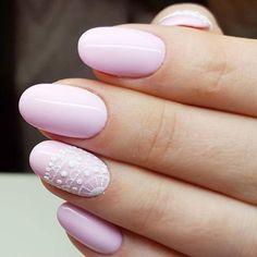 Rose Quartz Gel Polish by Indigo Educator Emilia Tokarz, Kraków #nails #nail #pink #rose #indigo #indigonails #winter #white #snow #classy #winternail