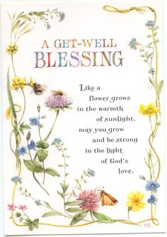 Superieur A GET WELL BLESSING GREETING CARD
