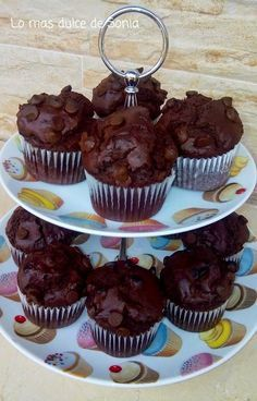 Fondant Cupcakes, Cupcake Cookies, Mexican Food Recipes, Cookie Recipes, Biscuits, Chocolate Muffins, Chocolate Cacao, Pan Dulce, Crazy Cakes