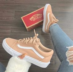 Like what you see? Follow 🥰@amyrosewood04 🥰 for more Tan Vans, Peach Vans, Yellow Vans, Yellow Shoes, Orange Yellow, Beige Sneakers, Sneakers Style, Vans Sneakers, Sneakers For Sale