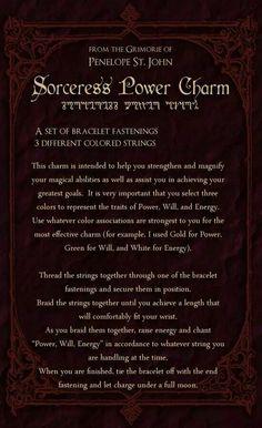 Sorceress power charm