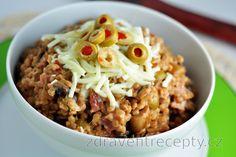 Celozrnný kuskus s pizza oblohou Quinoa, Couscous, Oatmeal, Grains, Paleo, Rice, Vegan, Breakfast, Recipes