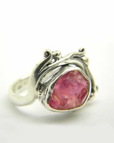 Ruby ring sterling silver statement ring by nikiforosnelly on Etsy