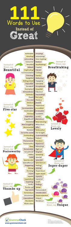 111 Words to Use Instead of Great                                                                                                                                                                                 More