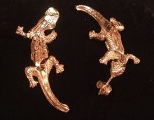 Articulated Sterling Silver Post Style Lizard Earrings