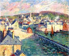 Gustave Loiseau(France 1865-1935)The Port of Fecamp (1921)oil on canvas 50 x 60 cm