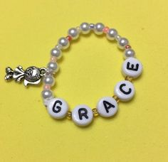 "American Girl Doll 2015 /""Grace /""3.5/""Elastic Bracelet With1 Diamond Crystal//charm"