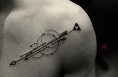 "tattootemple: "" Arrows for Mike - artwork and tattoo by Elizabeth - www.tattootemple.hk """