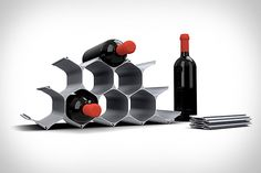 WineHive wine shelf, starts at only $25. You can fullfill your geek sheek design!