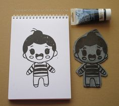carving linoleum Fallout Vault, Carving, Stamp, Boys, Fictional Characters, Art, Baby Boys, Art Background, Wood Carvings