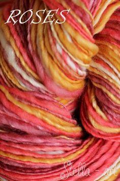 ROSES - vlna merino a hodváb mulberry