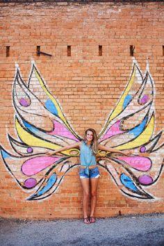 A Texas Senior Session   Senior Style Guide Murals Street Art, Street Art Graffiti, Mural Art, Wall Mural, Chalk Photography, Senior Photography, Halloween Photography, Concept Photography, Photography Ideas