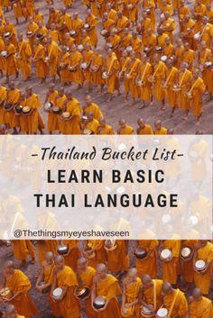 Thailand Bucket List, Learn basic Thai language
