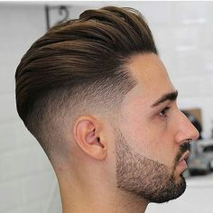Thick Textured Hair Slicked Back with Undercut on the Sides