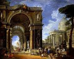 The Athenaeum - Circe Entertaining Odysseaus at a Banquet (Giovanni Paolo Panini - )