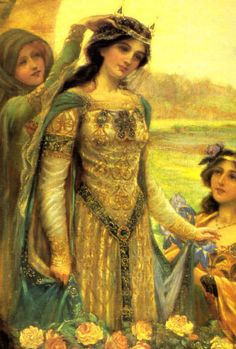 Guinevere-  Goddess Guinevere, Goddess of Land, Flower Maiden, Fairy Goddess of Love, Growth, Fertility, Romance, Queen of the  Round Table