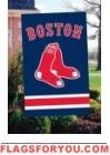 "Red Sox Applique Banner Flag 44"" x 28"""