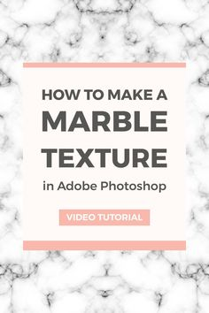 Marble is perfect if you want an elegant website background or you can even use it for graphics. Here's how to create a marble texture in Photoshop.