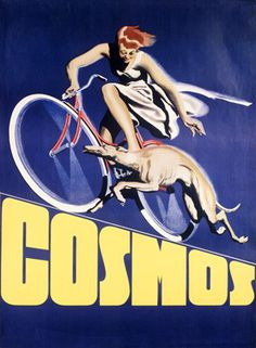 Cosmos Greyhound Bicycle Ad Fine Art Print