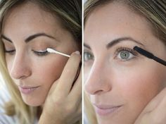 Encorpe os cílios com uma camada de talco para um efeito de postiços. | 26 truques rápidos de maquiagem que vão facilitar a sua vida